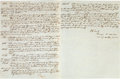 Autographs:Military Figures, [Mexican War]. Major Jubal Early Document Signed...