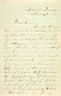 Miscellaneous:Ephemera, [Death of Abraham Lincoln]. Union Soldier J.A. Kimbell AutographLetter Signed....