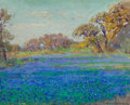 Paintings, JULIAN ONDERDONK (American, 1882-1922). Bluebonnets North of San Antonio, Late Afternoon, circa 1919-21. Oil on wood pan...