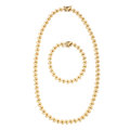 Estate Jewelry:Suites, Gold Necklace and Bracelet, Turkey. ... (Total: 2 Items)
