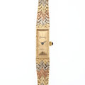 Timepieces:Wristwatch, Geneva 14k Gold With Multi-Color Bracelet. ...