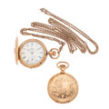 Timepieces:Pocket (post 1900), Two Elgin's Hunter's Case Pocket Watches. ... (Total: 2 Items)