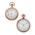 Timepieces:Pocket (post 1900), South Bend & Elgin Open Face Pocket Watches Runners. ...(Total: 2 Items)