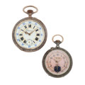 Timepieces:Pocket (post 1900), Two Fancy Dials Pocket Watches Runners. ... (Total: 2 Items)