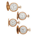 Timepieces:Pocket (post 1900), Four Lady's Gold Filled Hunter's Cases. ... (Total: 4 Items)
