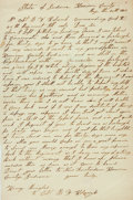 Miscellaneous:Ephemera, Union Soldier Henry Mingels Autograph Letter Signed....