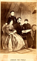 "Miscellaneous:Ephemera, [Abraham Lincoln]. ""Lincoln and Family"" Carte de Visite...."