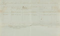 """Miscellaneous:Ephemera, Report of the Hiring of Contraband. One page, 15.25"""" x 12"""", April1863. The list contains the names of two men and details i..."""
