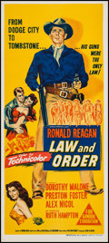 "Movie Posters:Western, Law and Order (Universal International, 1953). Australian Daybill(13"" X 29.75""). Western.. ..."