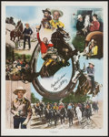 "Gene Autry Print (The Art Merchant, 1982). Signed Poster (24"" X 30""). Western"