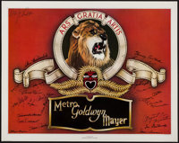 """Stars of MGM Autograph Lot (Nostalgia Merchant, 1978). Signed and Numbered Poster (24"""" X 30""""). Miscellaneous..."""