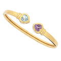 Estate Jewelry:Bracelets, Aquamarine, Amethyst, Gold Bracelet . ...