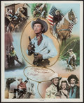 """Movie Posters:Western, Roy Rogers Print (Nostalgia Merchant, 1977). Signed Personality Poster (24"""" X 30""""). Western.. ..."""