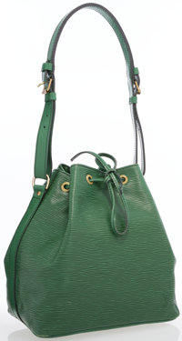 """Louis Vuitton Green Epi Leather Noe Shoulder Bag Very Good Condition 12.5"""" Width x 10"""" Height x"""