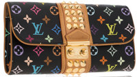 "Louis Vuitton Black Monogram Multicolore Courtney Clutch Good to Very Good Condition 11"" Width"