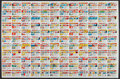 Non-Sport Cards:Unopened Packs/Display Boxes, Bazooka Joe Uncut Sheet with 132 Comic Cards. ...