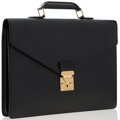 Luxury Accessories:Accessories, Louis Vuitton Black Epi Leather Conseiller Ambassadeur Briefcase. ...