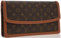 Luxury Accessories:Accessories, Louis Vuitton Classic Monogram Canvas Pochette Pour Dame ClutchBag. ...