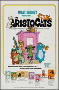 "Movie Posters:Animation, The Aristocats (Buena Vista, 1970). One Sheet (27"" X 41"").Animation.. ..."