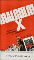 """Movie Posters:Documentary, Malcolm X (Warner Brothers, 1972). One Sheet (25"""" X 44.5""""). Documentary.. ..."""