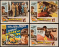 "Movie Posters:Sports, A Race for Life (Lippert, 1954). Title Lobby Card & Lobby Cards (3) (11"" X 14""). Sports.. ... (Total: 4 Items)"
