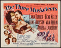 "Movie Posters:Swashbuckler, The Three Musketeers (MGM, 1948). Title Lobby Card (11"" X 14""). Swashbuckler.. ..."