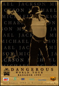 "Movie Posters:Rock and Roll, Michael Jackson: Dangerous World Tour (HBO Films, 1992). ConcertPoster (23.25"" X 34""). Rock and Roll.. ..."