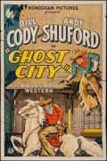 "Movie Posters:Western, Ghost City (Monogram, 1932). One Sheet (27"" X 41""). Western.. ..."