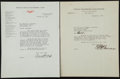 Baseball Collectibles:Others, 1932 and 1941 Ed Barrow and Branch Rickey Jr. Signed Letters Lot of2. ...