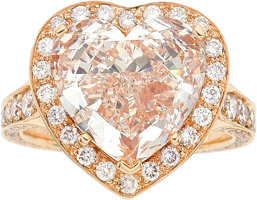Featured item image of Fancy Light Pink Diamond, Diamond, Pink Gold Ring, Chopard  ...