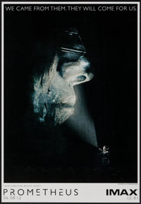 "Prometheus (20th Century Fox, 2012). IMAX Poster (13.5"" X 19.5"") Advance. Science Fiction"