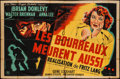 "Movie Posters:Drama, Hangmen Also Die (Les Films Roger Richebe, 1947). French DoubleGrande (63"" X 90""). Drama.. ..."