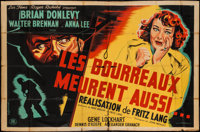"""Hangmen Also Die (Les Films Roger Richebe, 1947). French Double Grande (63"""" X 90""""). Drama"""