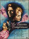 "Movie Posters:Foreign, Les Liaisons Dangereuses (Conicor, 1959). French Grande (46"" X 61""). Foreign.. ..."