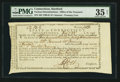 Colonial Notes:Connecticut, Signed by Peter Colt Connecticut Treasury Office Feb. 22, 1791 PMGChoice Very Fine 35 Net.. ...