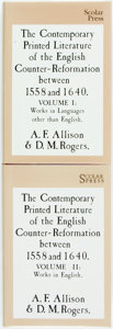 Books:Reference & Bibliography, A.F. Allison and D. M. Rogers, editors. The Contemporary PrintedLiterature of the English Counter-Reformation between 1558 an...(Total: 2 Items)