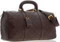 "Luxury Accessories:Travel/Trunks, Chanel Burgundy Quilted Lambskin Leather Boston Travel Bag .Very Good Condition. 19.5"" Width x 10"" Height x 7.5"" Depth,4..."