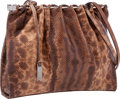 """Luxury Accessories:Bags, Gucci Brown Karung Shoulder Bag . Very Good Condition .11"""" Width x 8.5"""" Height x 2"""" Depth . ..."""