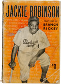 Baseball Collectibles:Publications, 1948 Jackie Robinson Signed Book. ...