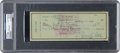 Baseball Collectibles:Others, 1956 Ty Cobb Signed Check, PSA/DNA Authentic. ...