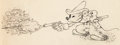 Animation Art:Production Drawing, Two-Gun Mickey Mickey Mouse Animation Drawing (Walt Disney,1935)....