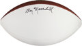 Football Collectibles:Balls, Late 2000's Don Meredith Signed Football....