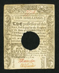 Colonial Notes:Connecticut, Connecticut July 1, 1780 10s Hole Cancel Extremely Fine-About New.....
