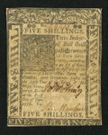 Colonial Notes:Delaware, Delaware January 1, 1776 5s Very Fine.. ...