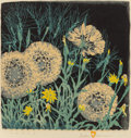 Fine Art - Work on Paper:Print, GUSTAVE BAUMANN (German/American, 1881-1971). Tares, 1952.Woodblock in colors. 12-3/4 x 12-1/2 inches (32.4 x 31.8 cm) ...