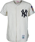 Baseball Collectibles:Uniforms, 1990's Mickey Mantle Signed New York Yankees Jersey. ...