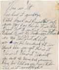 "Music Memorabilia:Autographs and Signed Items, Billie Holiday ""This Is It"" Handwritten Lyrics..."