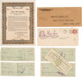 Movie/TV Memorabilia:Documents, A Group of Documents from an Early Hollywood Film Company, Circa1921....