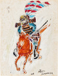 "Movie Posters:Foreign, Akira Kurosawa (c. 1970s). Signed Preliminary Artwork fromKagemusha (10.75"" X 14"").. ..."