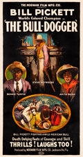 "Movie Posters:Western, The Bull-Dogger (Norman, 1921). Three Sheet (41"" X 79"").. ..."